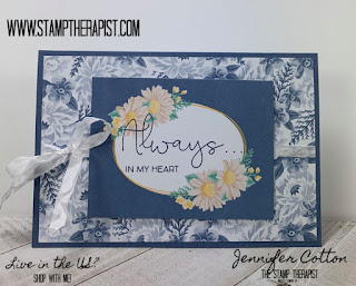 This card uses Stampin' Up!'s Flowers for Every Season Memories & More Card Pack and Cards & Envelopes along with the Field of Flowers Stamp Set.  Supplies & Video on the blog (click the pic to go there).  #StampTherapist #StampinUp