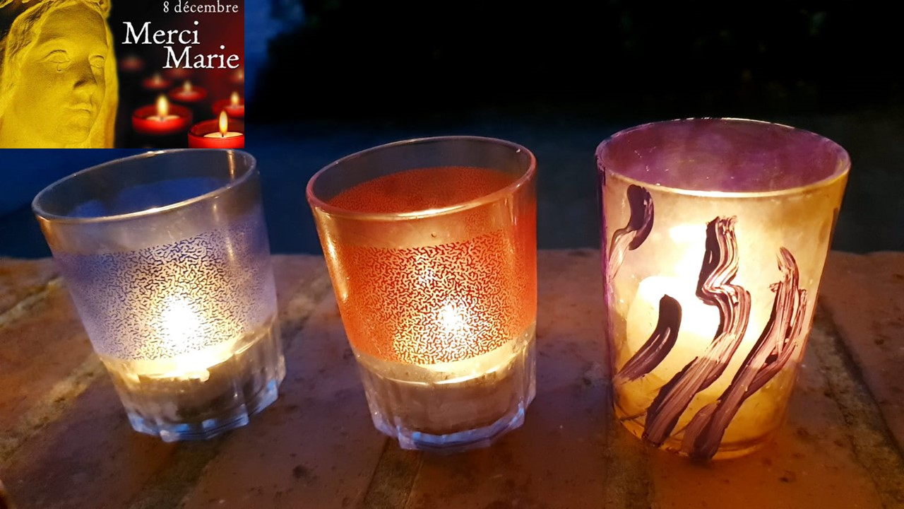 les bougies du 8 decembre pour l'immaculée conception