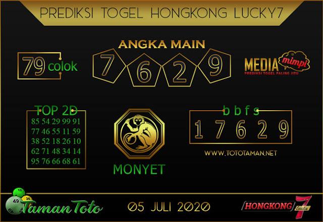 Prediksi Togel HONGKONG LUCKY 7 TAMAN TOTO 05 JULI 2020