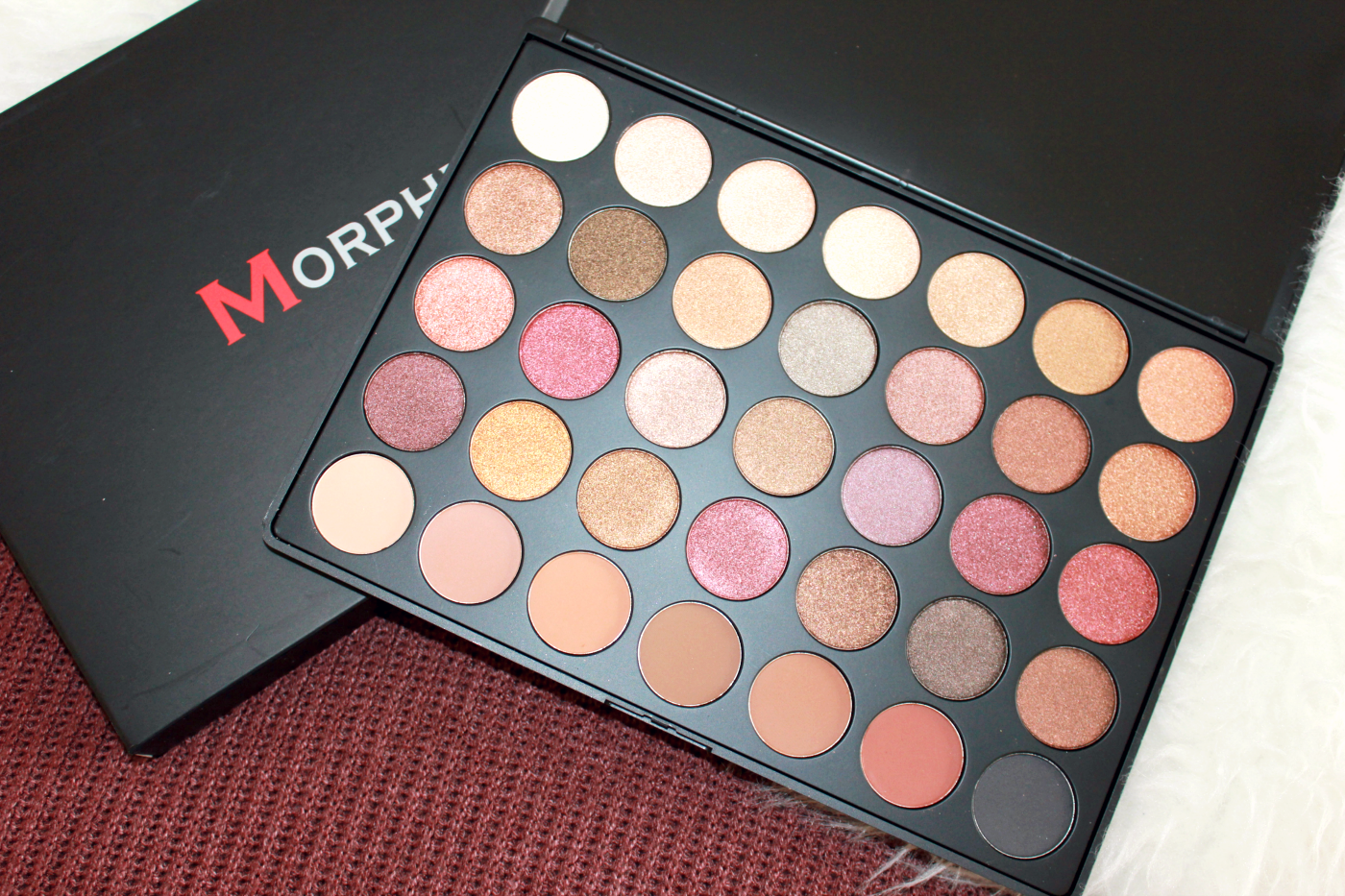 Morphe 35f eyeshadow palette review for Palette 34