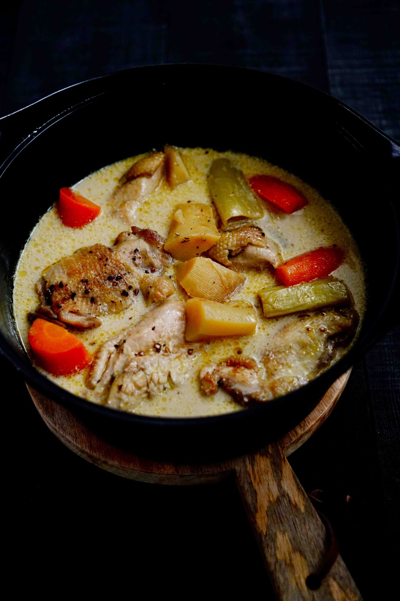 poulet en cocotte , recette familialle