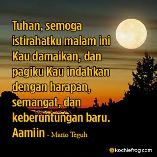 doa mario teguh sebelum tidur