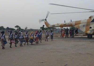 Released Chibok girls arrive Abuja