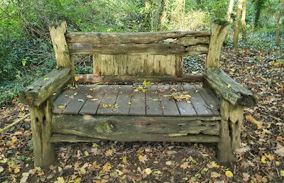 Old wooden bench found in Clapham Woods