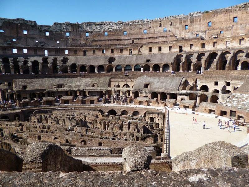 interior do Coliseu,primeiro andar
