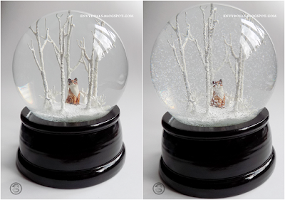 fox snowglobe