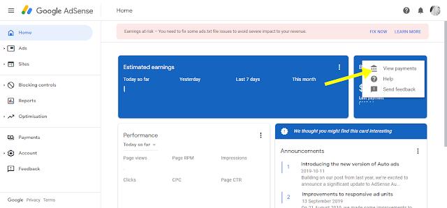 Cara keluarkan duit Google Adsense