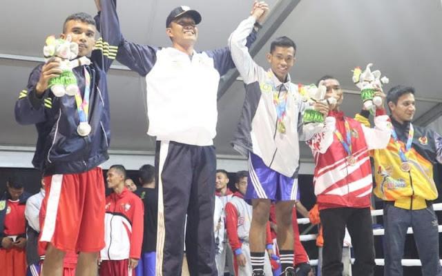 Petinju Yonarhanud 1 Kostrad Sabet Medali Emas Pekan Olahraga Aceh ke XIII