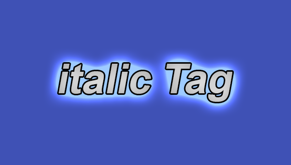 How to use italic Tag in html