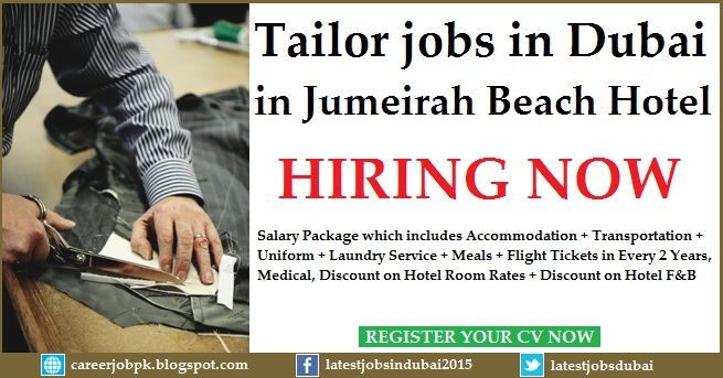 Tailor jobs in Dubai