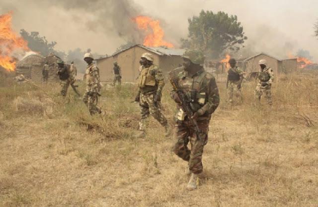 Nigerian troops fighting Boko Haram in Borno