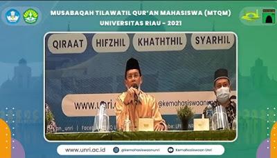 Universitas Riau Taja Musabaqoh Tilawatil Qur'an Mahasiswa (MTQM) 2021