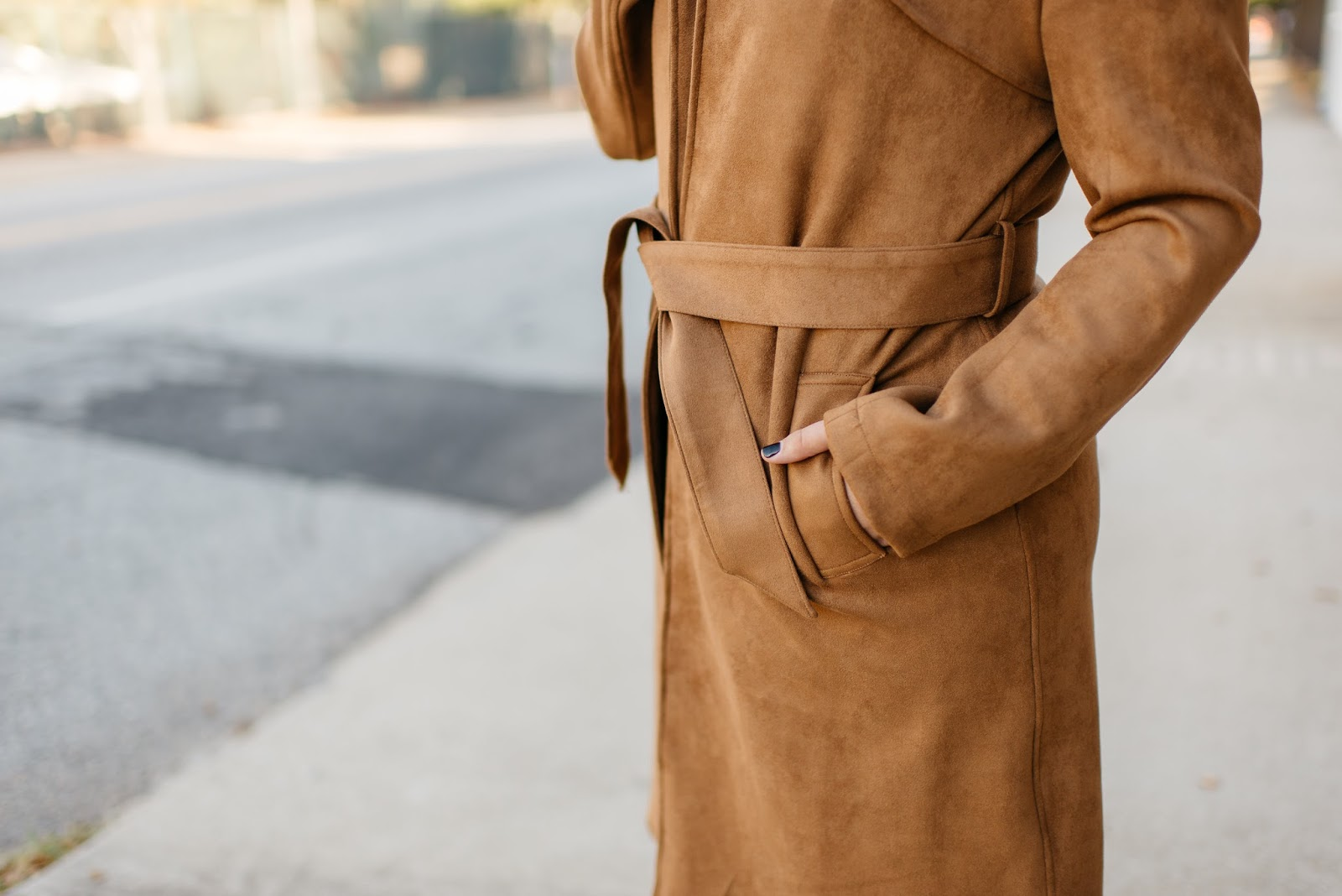 faux suede trench show me your mumu