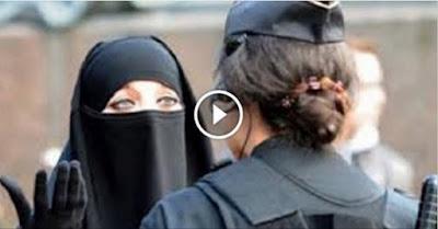 منقبة ذهبت للتسوق فهاجمتها فتاه فكشفت عن نقابها.. لتريها مفاجأة!!