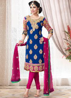 new beautiful design of designer anarkali churidar suit