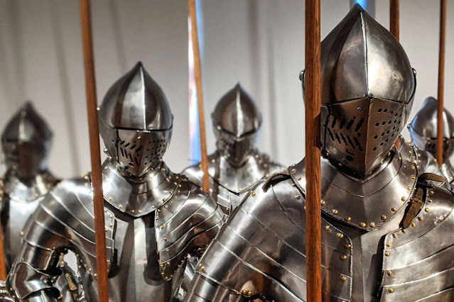 What to do in Innsbruck for Christmas: Suits of armor at Schloss Ambras
