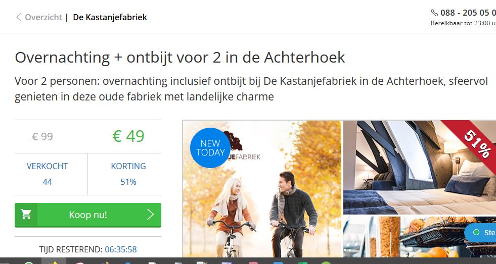 https://www.socialdeal.nl/deals/achterhoek/de-kastanjefabriek/voor-2-personen-overnachting-inclusief-ontbijt-bij-de-kastanjefabriek-in-de-achterhoek-sfeervol-genieten-in-deze-oude-fabriek-met-landelijke-charme-okt-2019-hotels-en-uitjes-achterhoek/