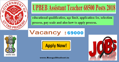 UPBEB Recruitment 2018-19 - Apply Online For 69000 Post - www.BengalStudent.in