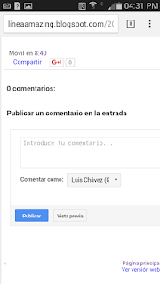 Plantilla móvil para Blogger – Línea Amazing