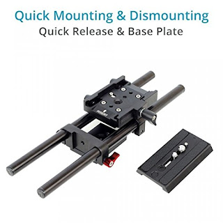 Universal Rail System 15 mm Rod Support for EOS 5D Mark2 7d 550d t2i DSLR