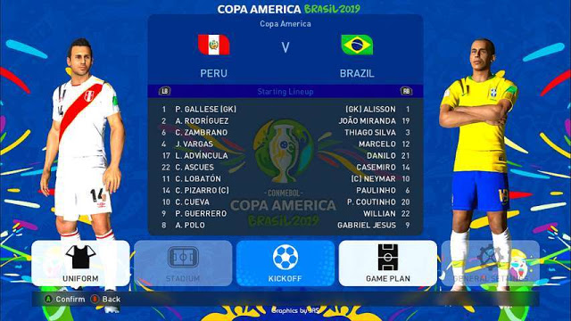 Copa America 2019 Mods For PES 2017