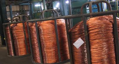 Precio del cobre sigue bajando por baja demanda ante efecto del COVID-19