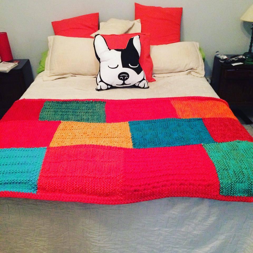 Puerta al sur un pie de cama muy colorido - Pie de cama ...
