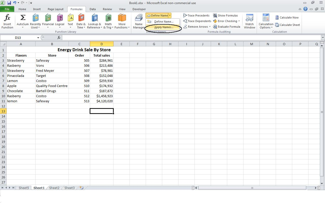 Power Of Excel Defining A Named Range