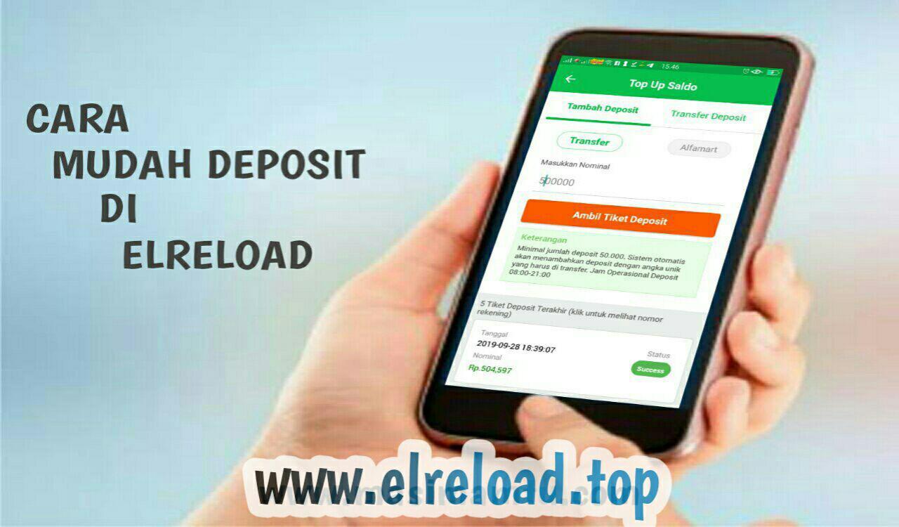 Cara Mudah Deposit Elreload Lewat Aplikasi Android