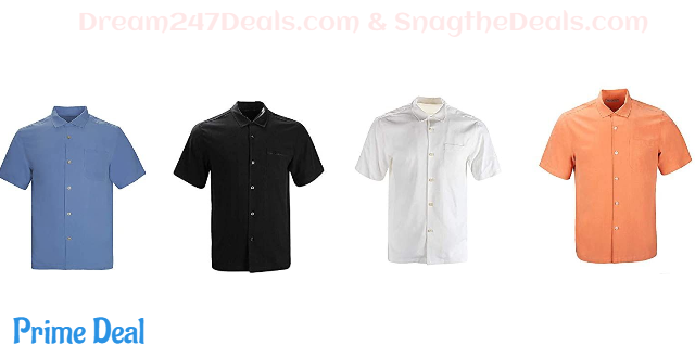 80% OFF  Havana Breeze Men's 100% Silk Relaxed-Fit Camp Shirt