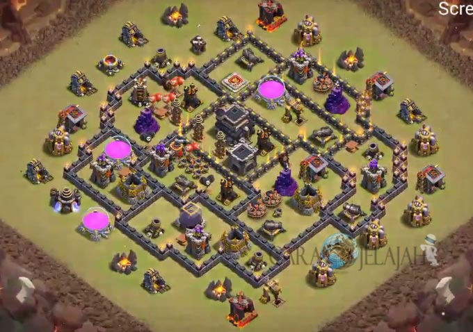 Base War TH 8 di Clash Of Clans Terbaru 2017 Tipe 12