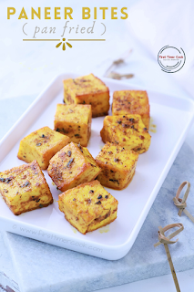 Pan Fried Paneer Bites
