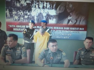 Pers rillis penangkapan oknum Prada TNI pembunuh pacarnya.