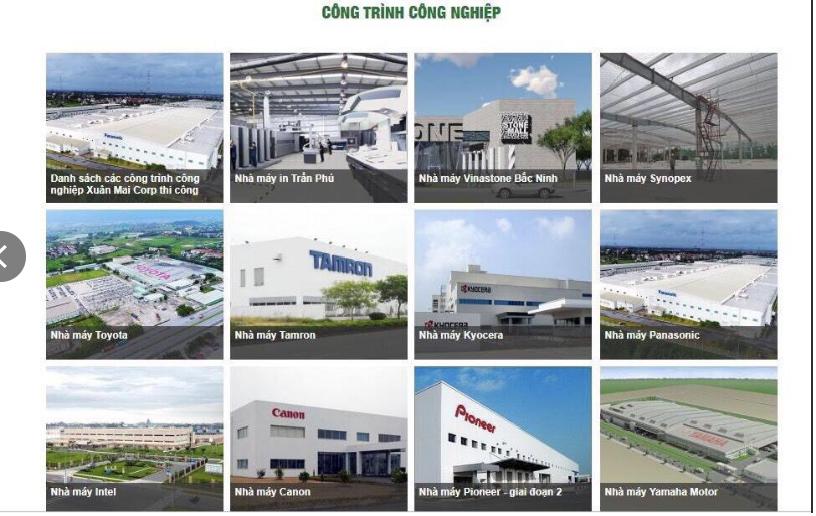 Công trình Công nghiệp Chủ đầu tư Xuân Mai đã hoàn thành