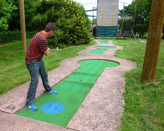 Mini Golf at Vivary Park in Taunton, Somerset