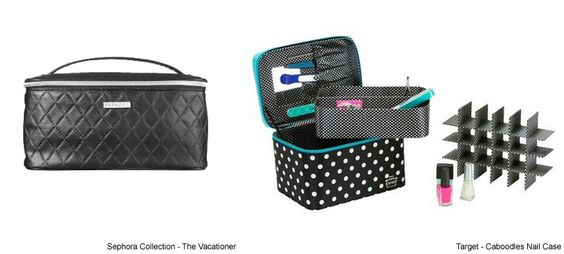 How to Organize Your Nail Polish Collection Different Ways Sephora Collection - The Vacationer Target - Caboodles Nail Case