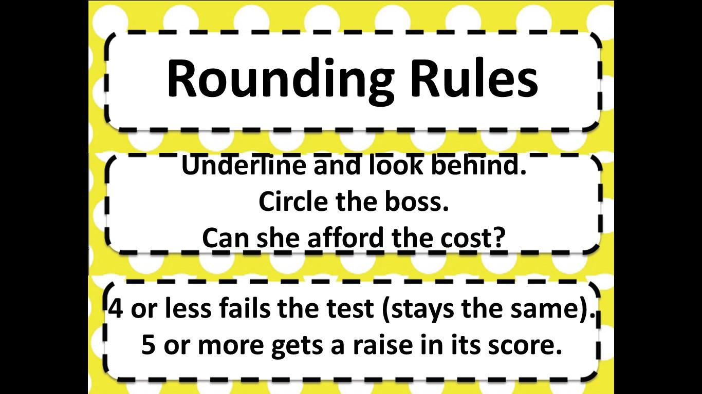 Beg Borrow And Teach Math Rounding Rules Poster
