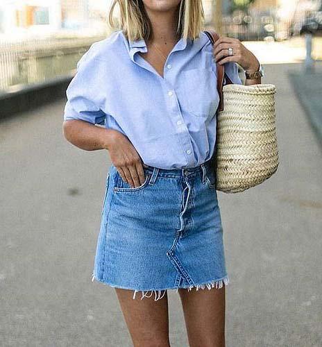 8 looks incríveis com saia jeans