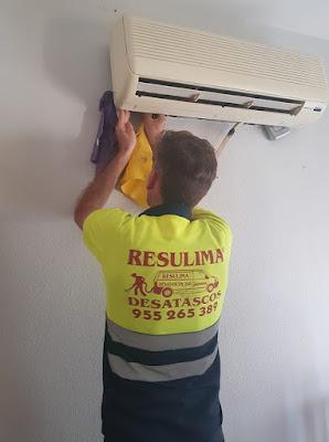 limpiezas y desatascos urgentes conductos aire acondicionado sevilla
