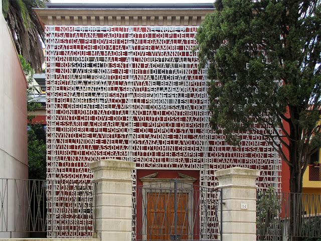 Facade of the Domus Mazziniana, via Mazzini, Pisa