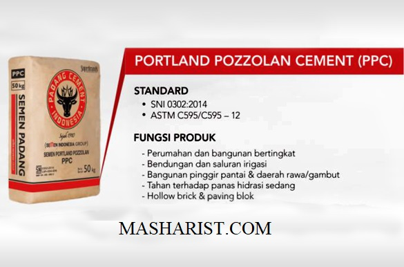 Portland Pozzolan Cement (PPC) According to ASTM C595/595M-12 and SNI 15-0302-2004