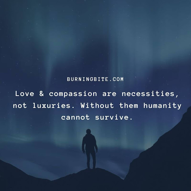 Love & compassion are necessities, not luxuries. Without them humanity cannot survive. ~Dalai Lama