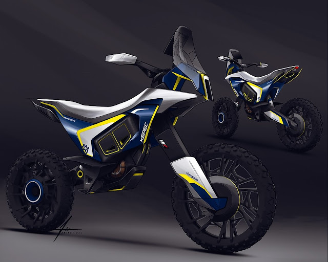 Husqvarna Concept Rally Bike by Aniket Das