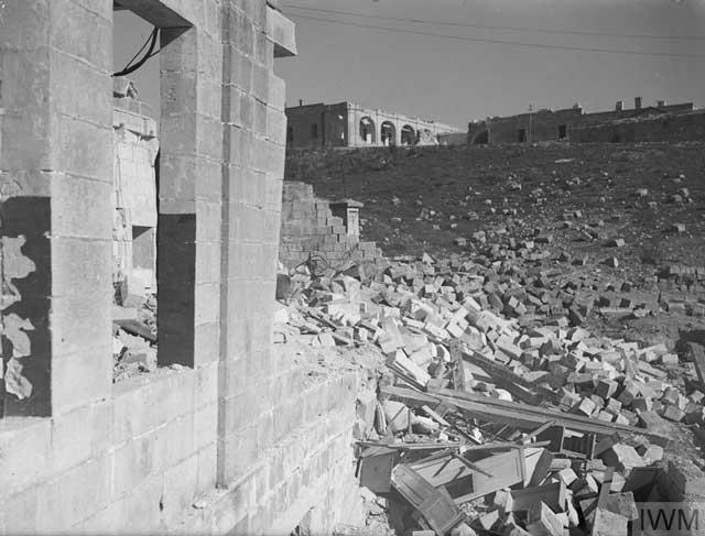 Bombed submarine base at Malta, 6 March 1942 worldwartwo.filminspector.com