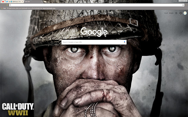 Call of Duty WWII Life is War Theme FOR Chrome 2017
