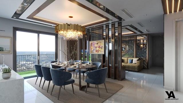 Nội thất chung cư tầng penthouse kèm model Su free