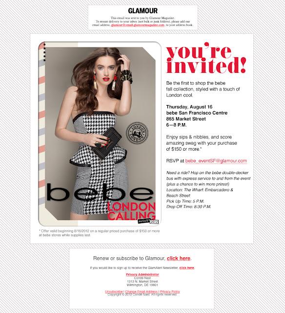 Glambassador Event: Bebe London Calling