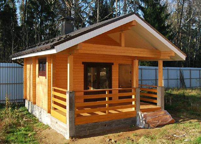 rumah kayu semi permanen