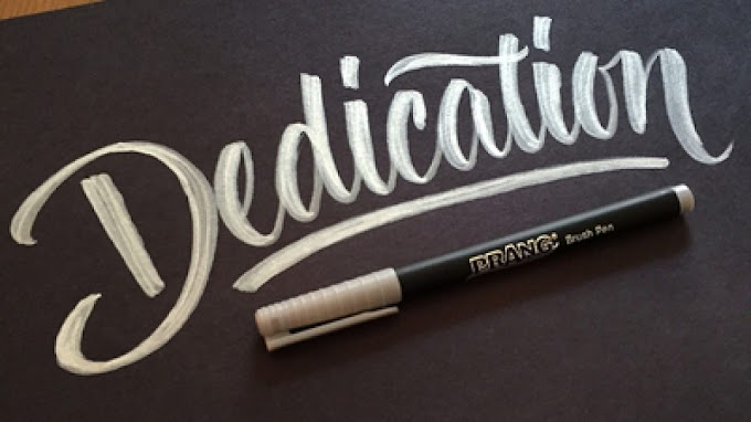 Dedication-the little things