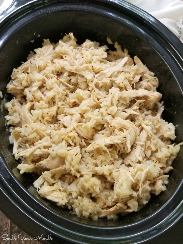 South Your Mouth Southern Style Crock Pot Chicken Rice
